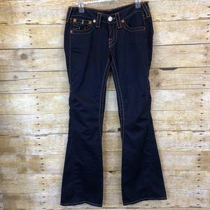 True Religion 100% Cotton Flare Leg Joey Jeans 25